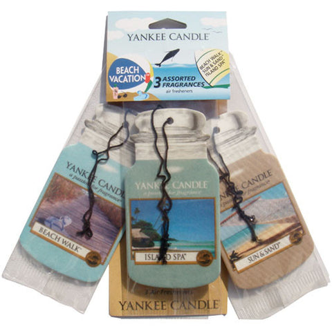 Yankee Candle Car Jar Vareity 3 Pack -Beach Vacation