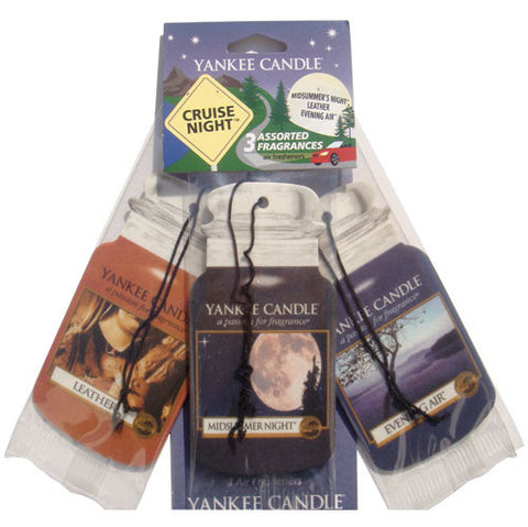 Yankee Candle Car Jar Variety 3 Pack -Cruise Night