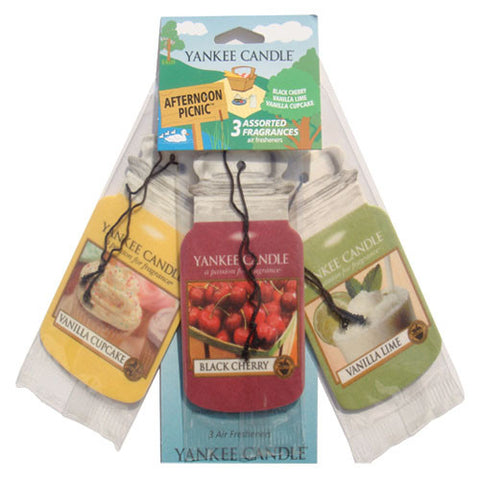 Yankee Candle Afternoon Picnic Car Jar - 3 Pack