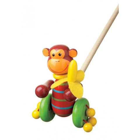 Orange Tree Toys Monkey Push Along