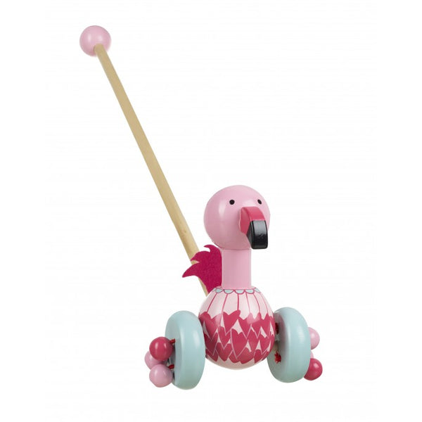 Orange Tree Toys Flamingo Push Along