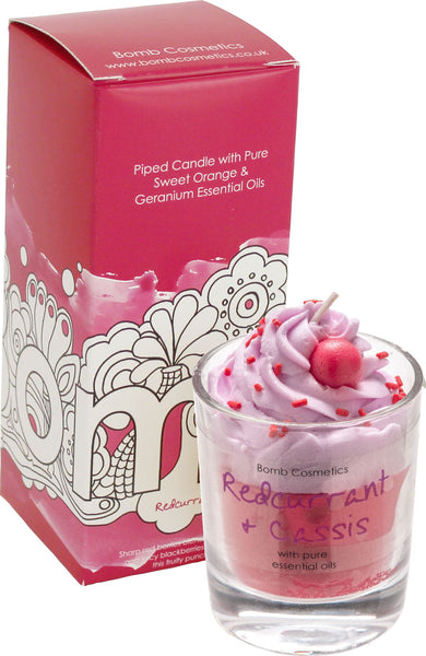 Bomb Cosmetics Piped Candle - Redcurrant & Cassis