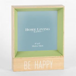 Be Happy Green Photo Frame