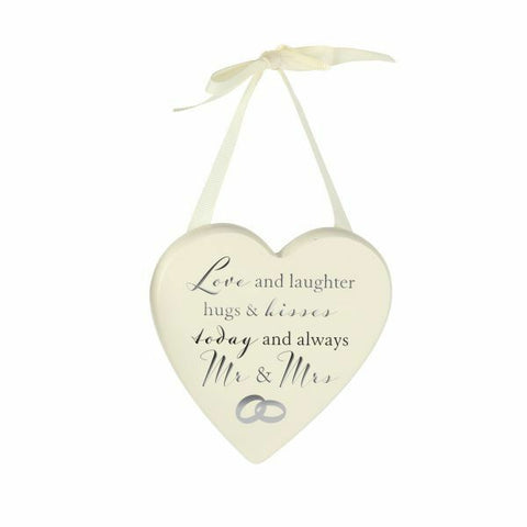 Amore  Love & Laughter Heart Plaque