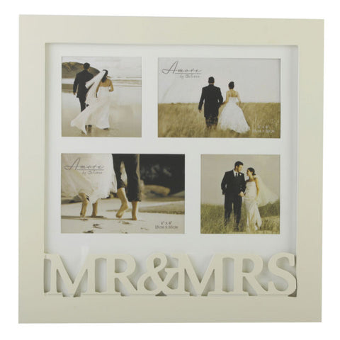 Amore collage 4 Pics Frame - 3D letters Mr & Mrs