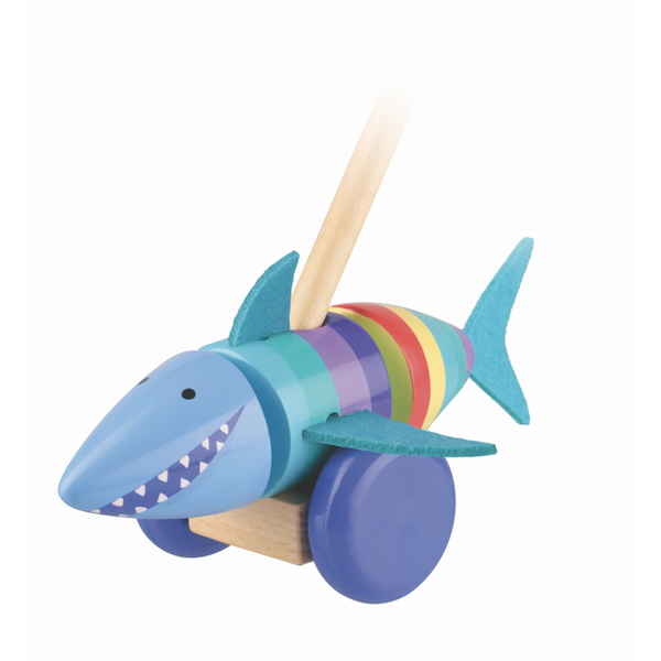 Orange Tree Toys Shark Push Along