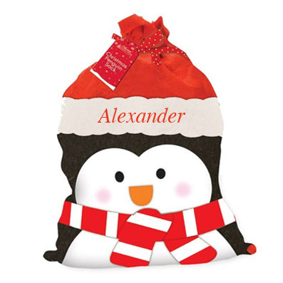 Xmas Creation Express Soft Fabric Sack (B) Penguin