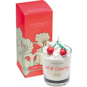 Bomb Cosmetics Piped Candle - Wild Cherry