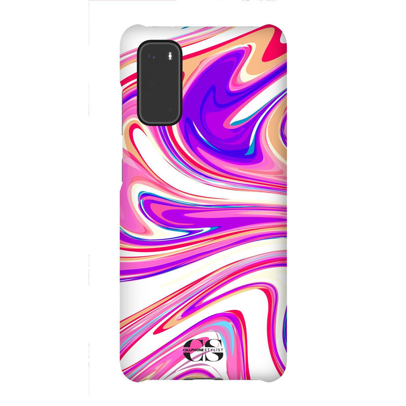 Candy Swirl - Pink (Galaxy) - Phone Case Galaxy S20 Snap Gloss - Cellphone Stylist