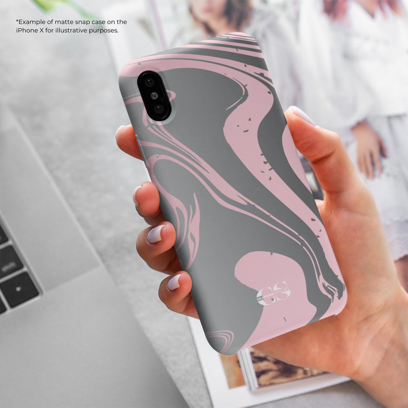 Feel My 80s Party Vibe - Pink/Grey (Galaxy) - Phone Case - Cellphone Stylist