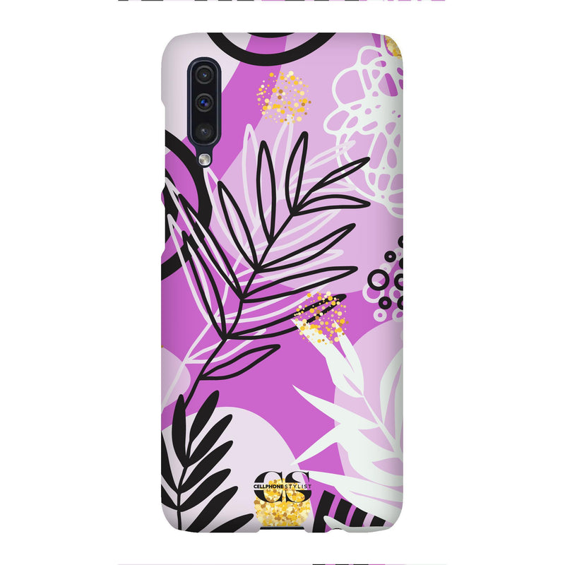 Floral Disco - Purple (Galaxy) - Phone Case Galaxy A50 Snap Matte - Cellphone Stylist