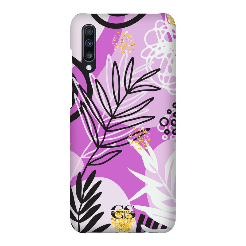 Floral Disco - Purple (Galaxy) - Phone Case Galaxy A70 Snap Matte - Cellphone Stylist