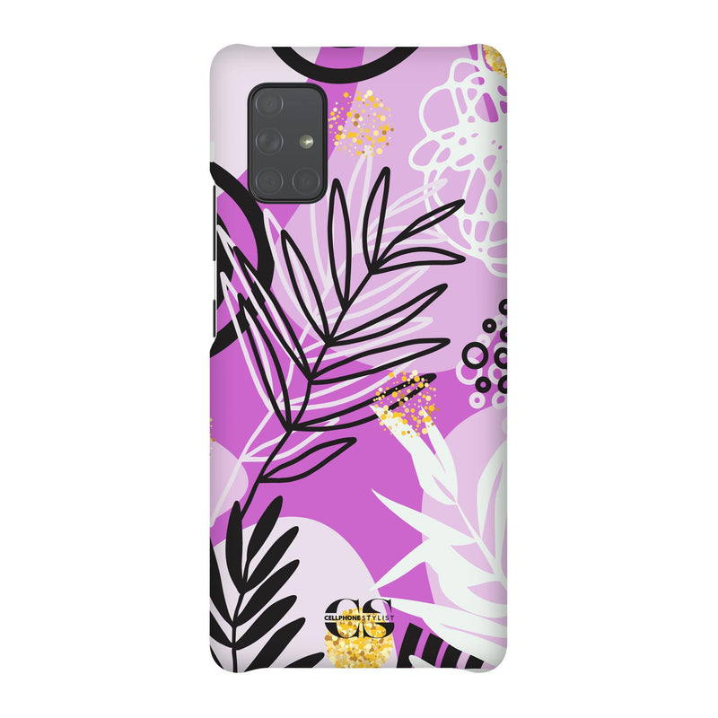 Floral Disco - Purple (Galaxy) - Phone Case Galaxy A71 5G Snap Gloss - Cellphone Stylist