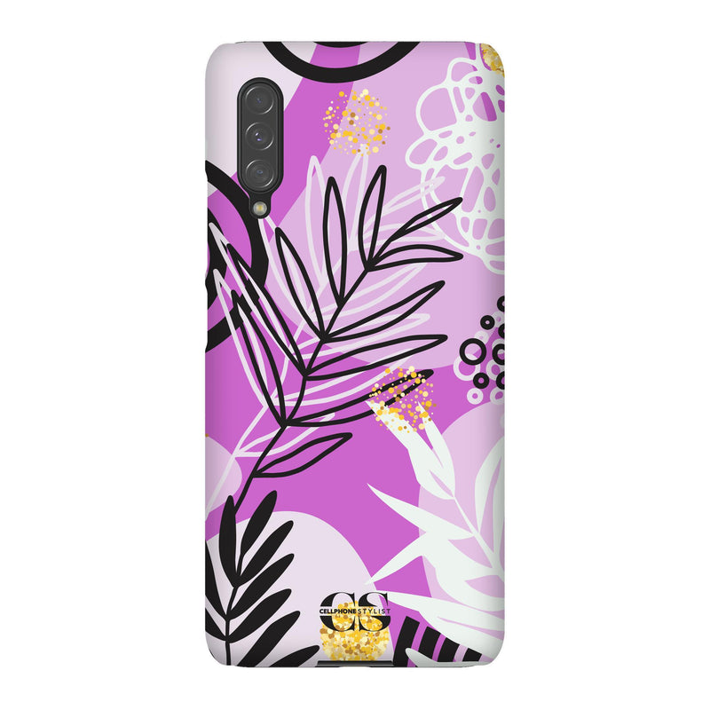 Floral Disco - Purple (Galaxy) - Phone Case Galaxy A90 5G Snap Gloss - Cellphone Stylist