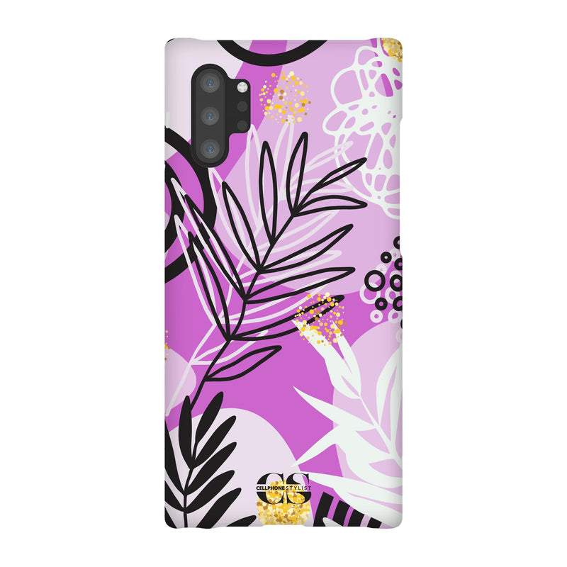 Floral Disco - Purple (Galaxy) - Phone Case Galaxy Note 10 Plus Snap Gloss - Cellphone Stylist