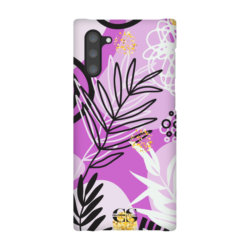 Floral Disco - Purple (Galaxy) - Phone Case Galaxy Note 10 Snap Gloss - Cellphone Stylist