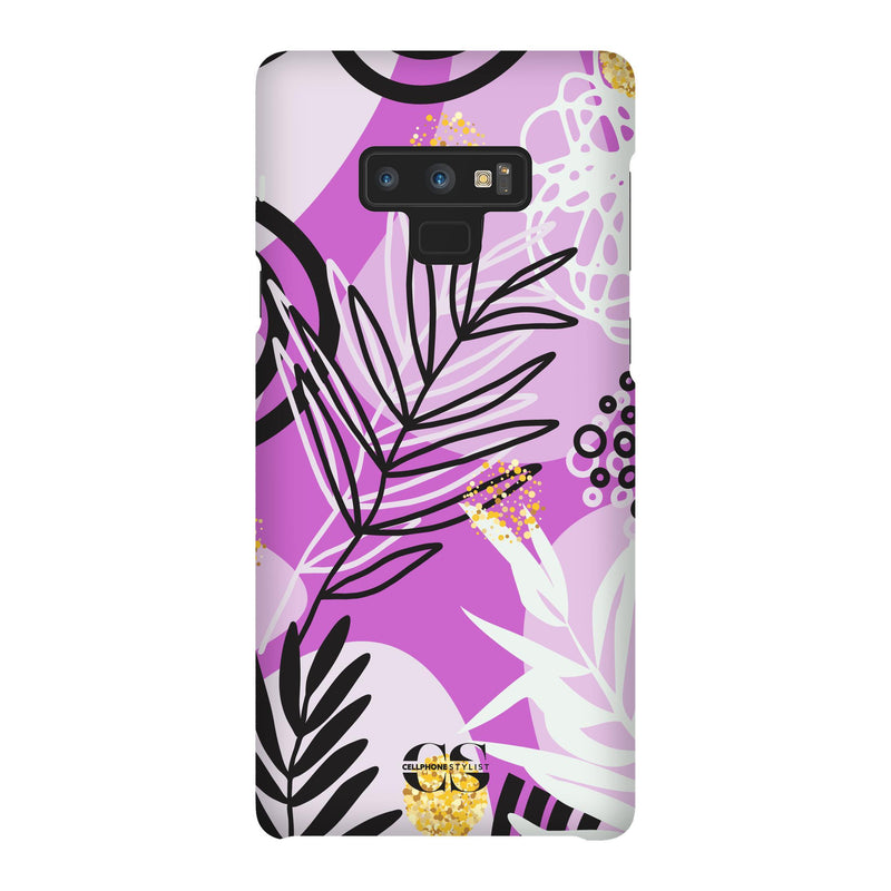 Floral Disco - Purple (Galaxy) - Phone Case Galaxy Note 9 Snap Matte - Cellphone Stylist