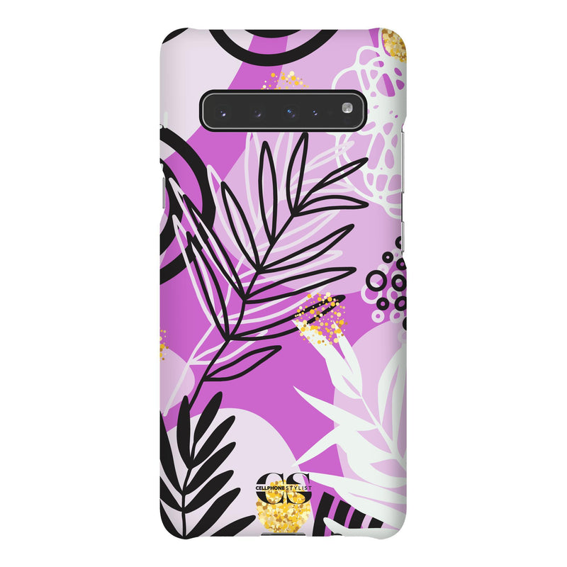 Floral Disco - Purple (Galaxy) - Phone Case Galaxy S10 5G Snap Gloss - Cellphone Stylist