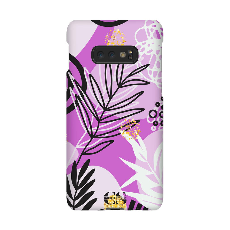 Floral Disco - Purple (Galaxy) - Phone Case Galaxy S10E Snap Gloss - Cellphone Stylist