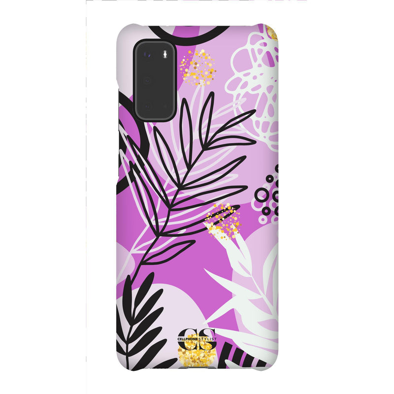 Floral Disco - Purple (Galaxy) - Phone Case Galaxy S20 Snap Gloss - Cellphone Stylist