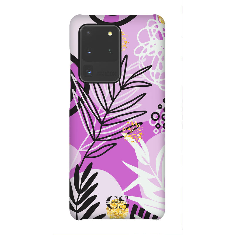 Floral Disco - Purple (Galaxy) - Phone Case Galaxy S20 Ultra Snap Gloss - Cellphone Stylist