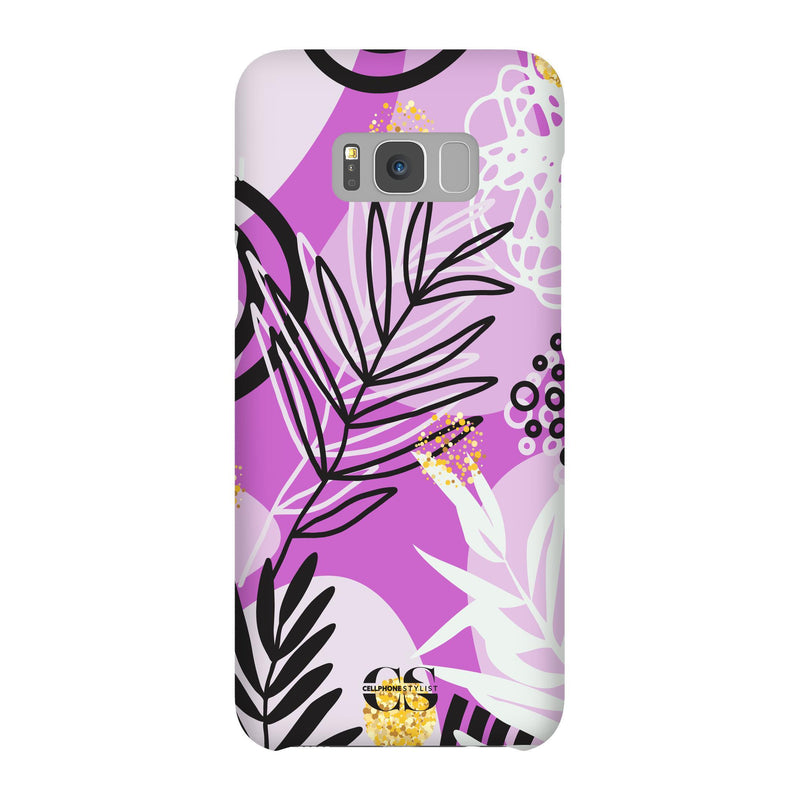 Floral Disco - Purple (Galaxy) - Phone Case Galaxy S8 Plus Snap Gloss - Cellphone Stylist