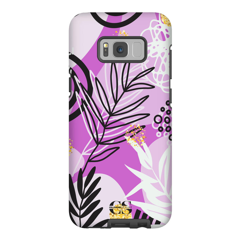 Floral Disco - Purple (Galaxy) - Phone Case Galaxy S8 Plus Tough Gloss - Cellphone Stylist