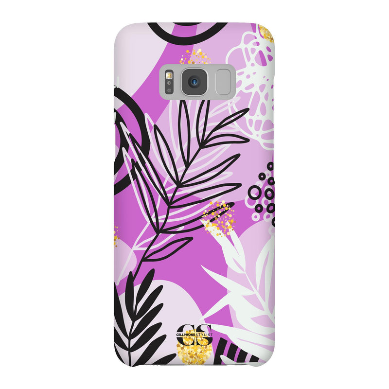 Floral Disco - Purple (Galaxy) - Phone Case Galaxy S8 Snap Gloss - Cellphone Stylist