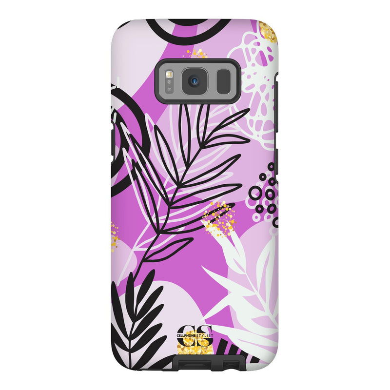 Floral Disco - Purple (Galaxy) - Phone Case Galaxy S8 Tough Gloss - Cellphone Stylist
