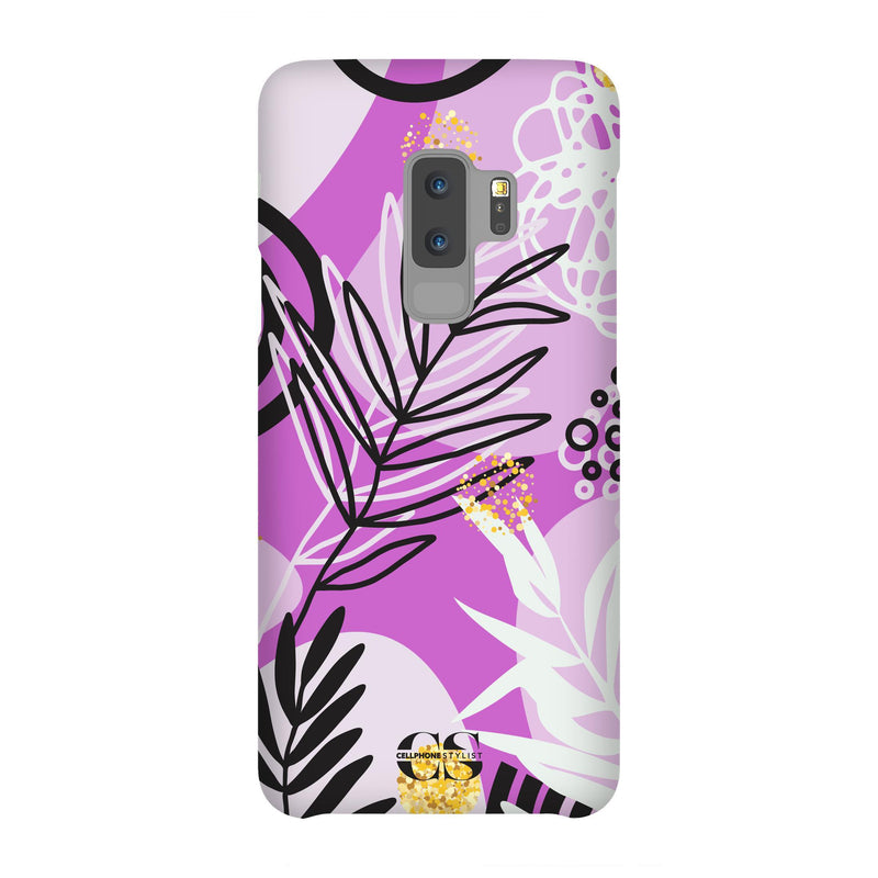 Floral Disco - Purple (Galaxy) - Phone Case Galaxy S9 Plus Snap Gloss - Cellphone Stylist