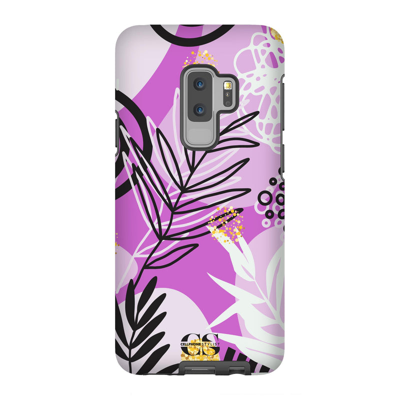 Floral Disco - Purple (Galaxy) - Phone Case Galaxy S9 Plus Tough Gloss - Cellphone Stylist