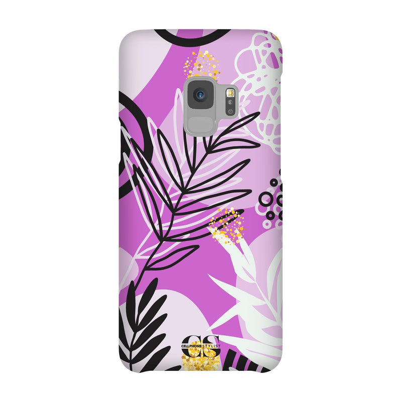 Floral Disco - Purple (Galaxy) - Phone Case Galaxy S9 Snap Gloss - Cellphone Stylist