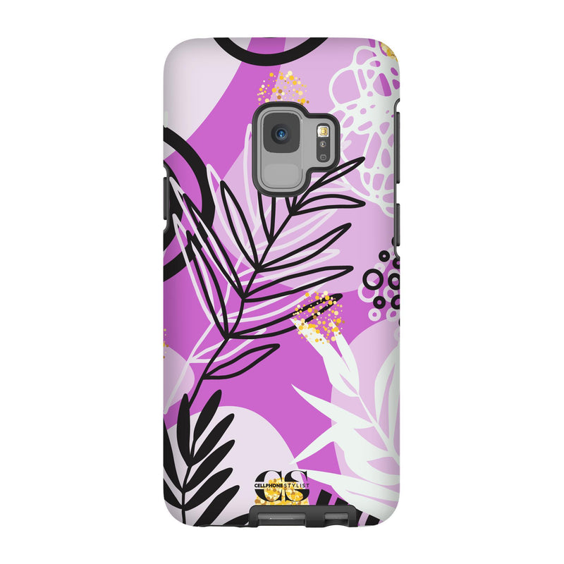 Floral Disco - Purple (Galaxy) - Phone Case Galaxy S9 Tough Gloss - Cellphone Stylist