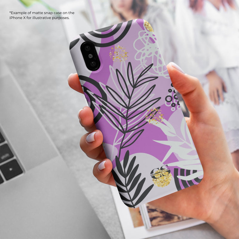 Floral Disco - Purple (iPhone) - Phone Case - Cellphone Stylist