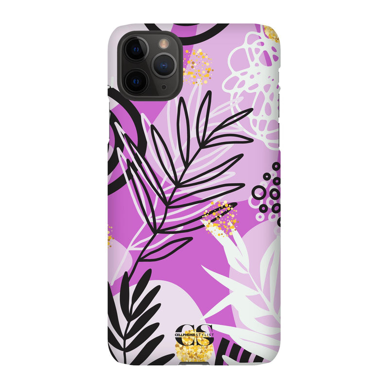 Floral Disco - Purple (iPhone) - Phone Case iPhone 11 Pro Max Snap Gloss - Cellphone Stylist