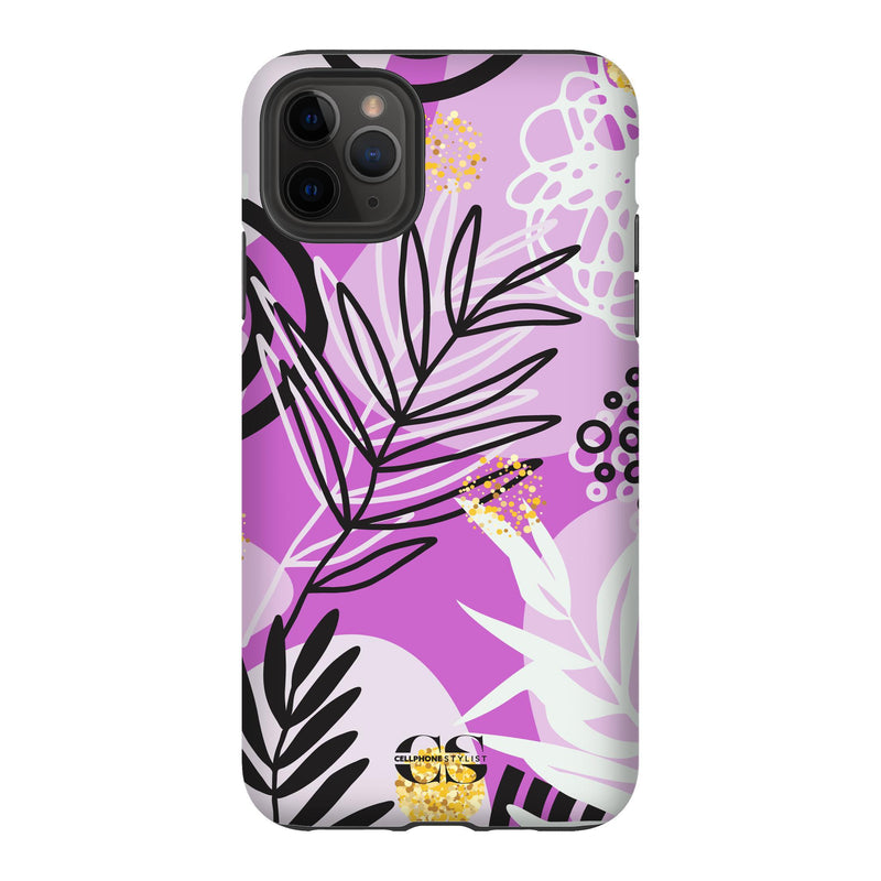 Floral Disco - Purple (iPhone) - Phone Case iPhone 11 Pro Max Tough Gloss - Cellphone Stylist