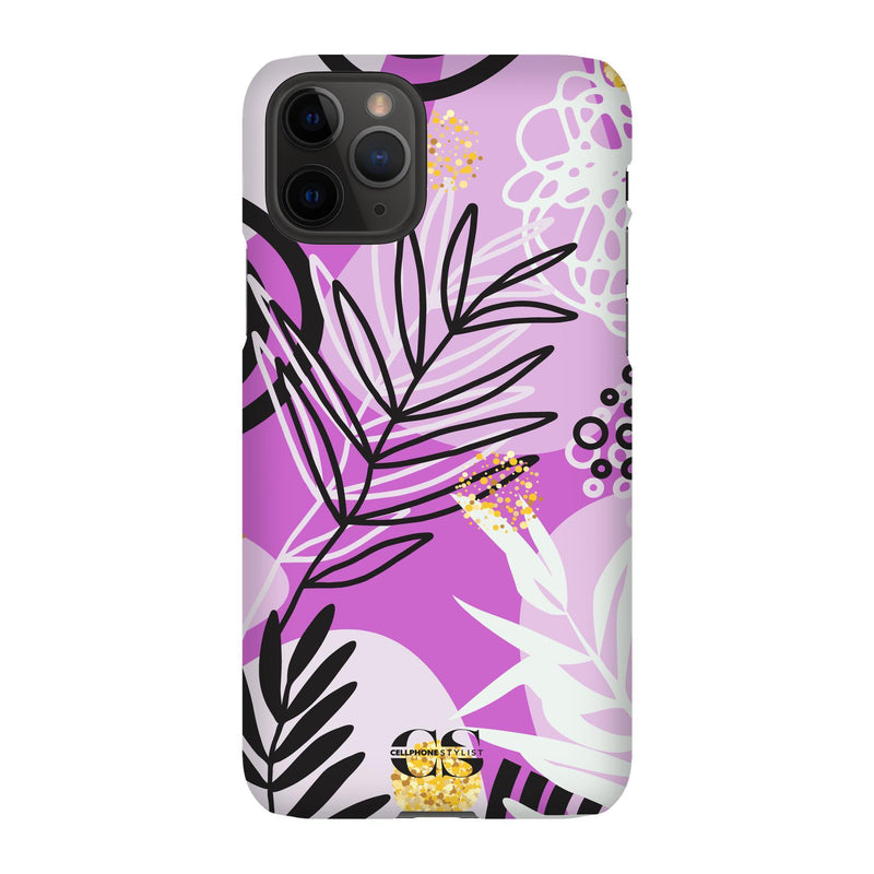 Floral Disco - Purple (iPhone) - Phone Case iPhone 11 Pro Snap Matte - Cellphone Stylist