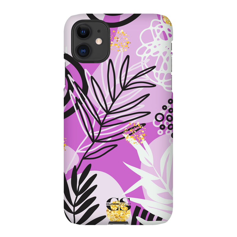 Floral Disco - Purple (iPhone) - Phone Case iPhone 11 Snap Gloss - Cellphone Stylist