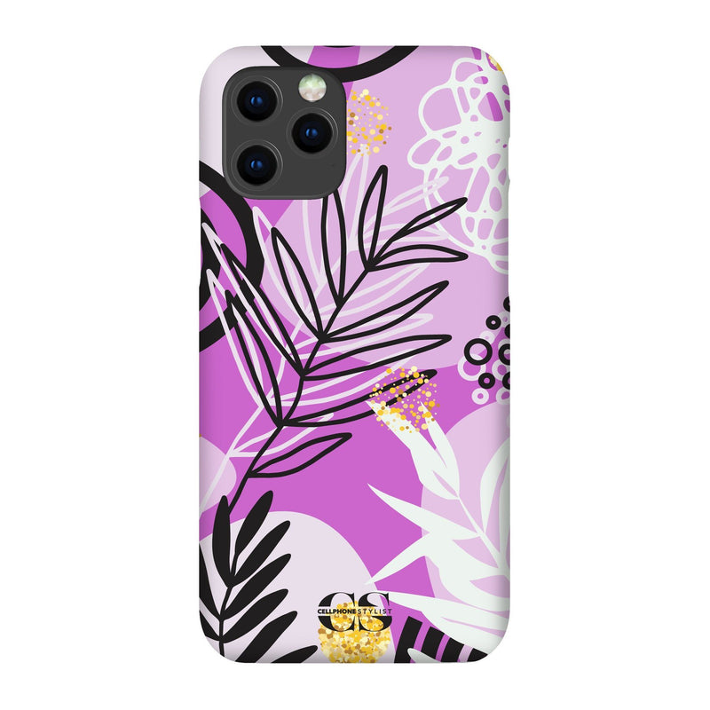 Floral Disco - Purple (iPhone) - Phone Case iPhone 12 Max Snap Gloss - Cellphone Stylist