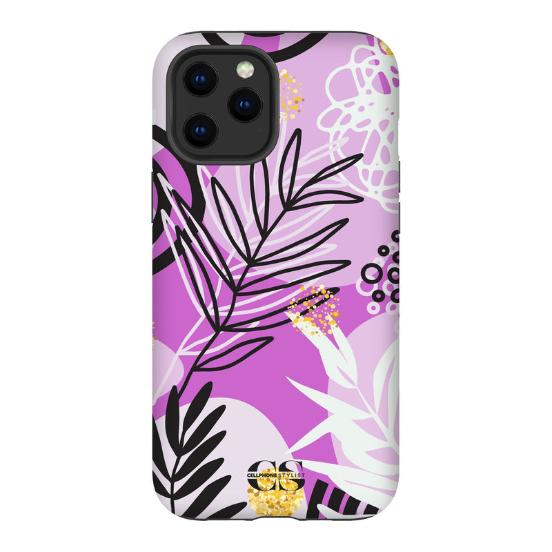 Floral Disco - Purple (iPhone) - Phone Case iPhone 12 Pro Max Tough Gloss - Cellphone Stylist