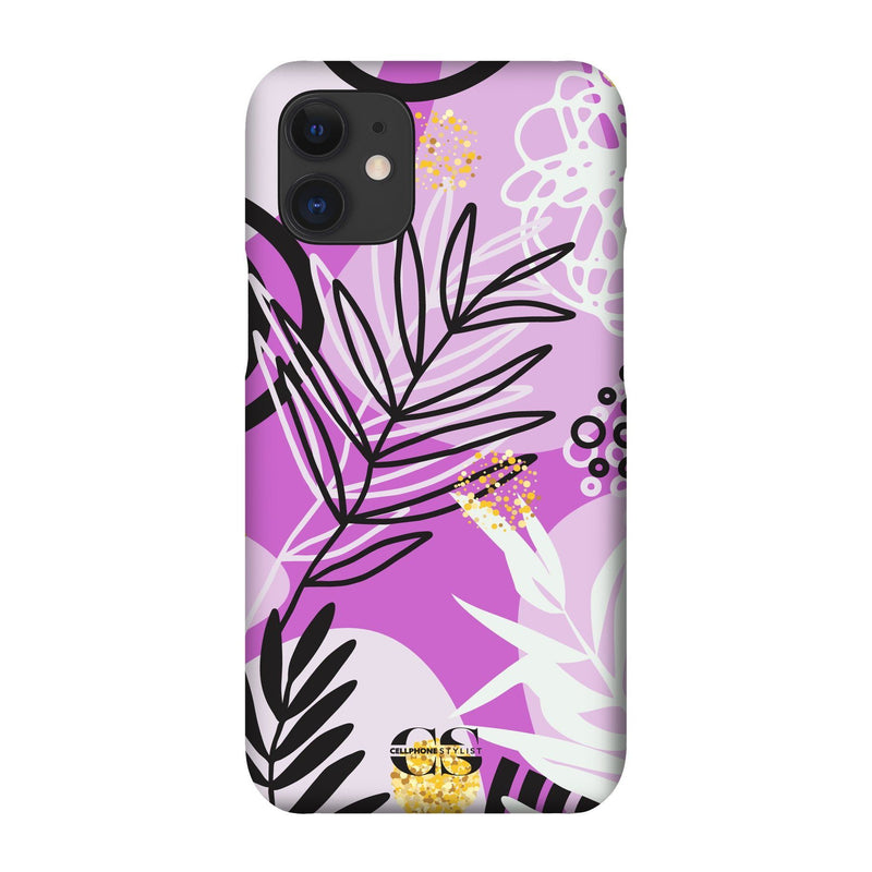 Floral Disco - Purple (iPhone) - Phone Case iPhone 12 Snap Gloss - Cellphone Stylist