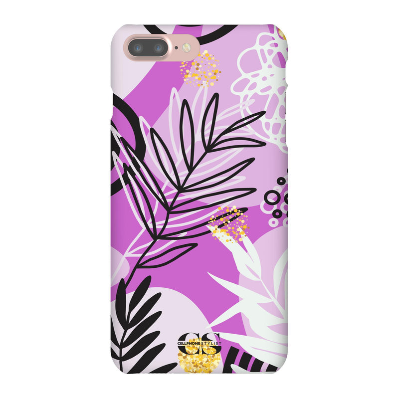 Floral Disco - Purple (iPhone) - Phone Case iPhone 7 Plus Snap Gloss - Cellphone Stylist