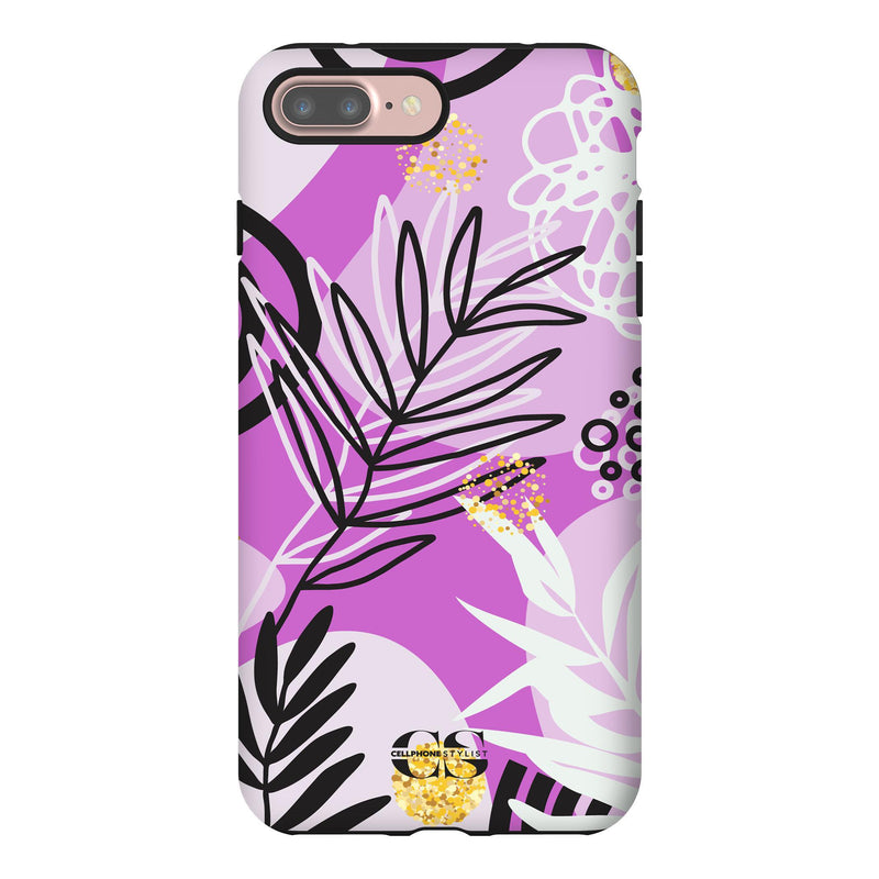 Floral Disco - Purple (iPhone) - Phone Case iPhone 7 Plus Tough Gloss - Cellphone Stylist