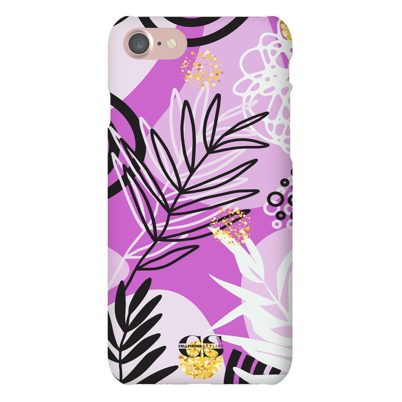 Floral Disco - Purple (iPhone) - Phone Case iPhone 7 Snap Matte - Cellphone Stylist