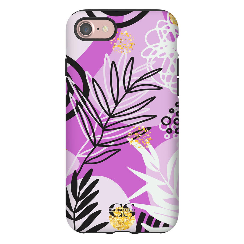 Floral Disco - Purple (iPhone) - Phone Case iPhone 7 Tough Gloss - Cellphone Stylist