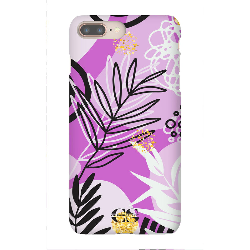 Floral Disco - Purple (iPhone) - Phone Case iPhone 8 Plus Snap Gloss - Cellphone Stylist