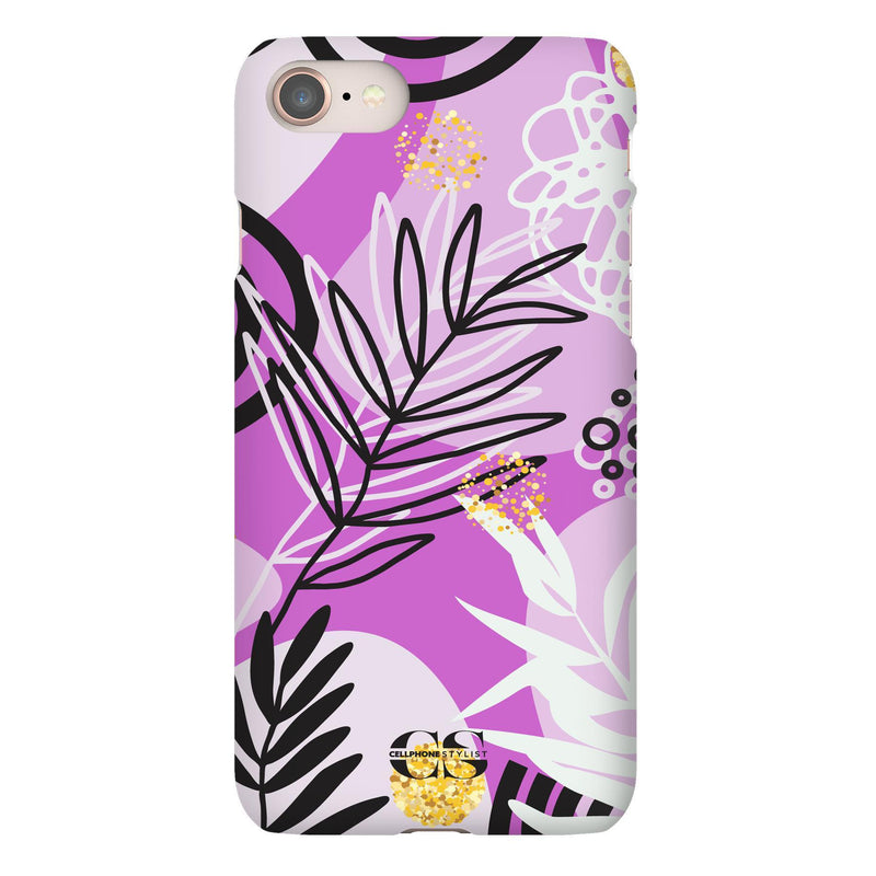 Floral Disco - Purple (iPhone) - Phone Case iPhone 8 Snap Gloss - Cellphone Stylist