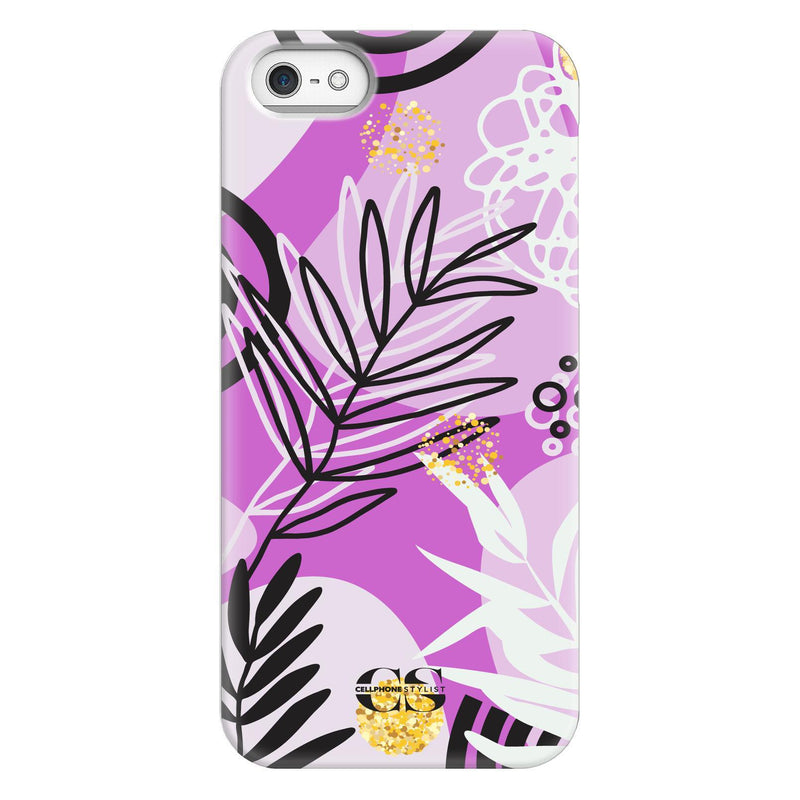 Floral Disco - Purple (iPhone) - Phone Case iPhone SE Snap Gloss - Cellphone Stylist