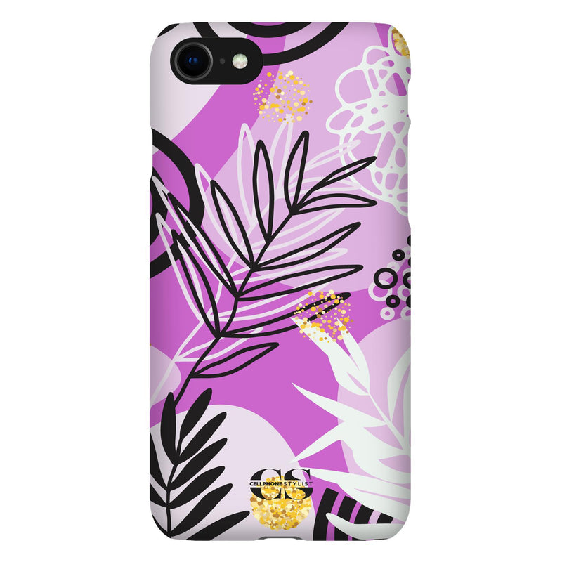 Floral Disco - Purple (iPhone) - Phone Case iPhone SE2 Snap Gloss - Cellphone Stylist