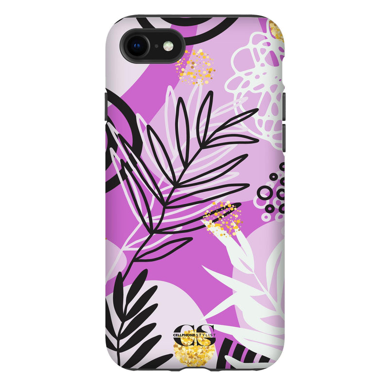 Floral Disco - Purple (iPhone) - Phone Case iPhone SE2 Tough Gloss - Cellphone Stylist